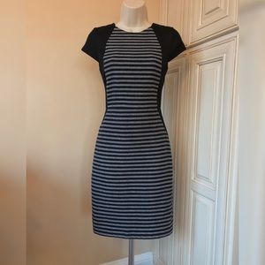 J Crew Suiting Wool Blend Striped Sheath Dress - 0